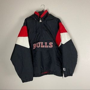 Vintage Chicago Bulls Starter Jacket NBA Medium